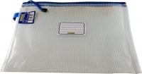 OSMER Clear Mesh Case A4 36cm x 27cm Blue Zip