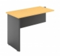 DDK Accent Desk Return 900x600mm Beech Top & Silver Side