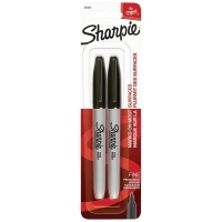 Sharpie Fine 1.0mm Permanent Marker S30162 PK2 Black