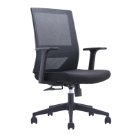 Utah Mesh Medium Back Office Chair W20MBK Black