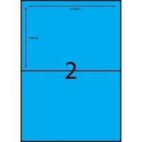 Rediform Colour Labels A4 Bx100 (2/sh) 210x148 Flouro Blue