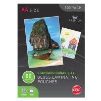 GBC Laminating Pouch A4 80mic Gloss BX100 BL80MA4