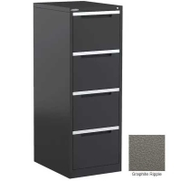 Steelco Filing Cabinet 4 Drawer Graphite Ripple