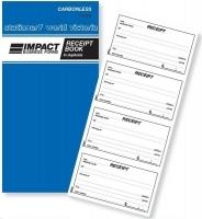 Cash Receipt Book Duplicate 4Up Carbonless Impact CS420