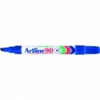 Artline 90 Marker Permanent Medium Chisel Blue