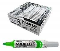 Pentel Maxiflo Whiteboard Marker MWL5D Green BX12