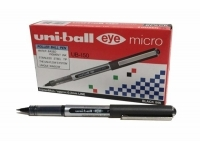 Uniball UB150 Micro 0.5 Eye Liquid Ink Rollerball Pen BX12 Black