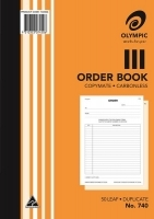 Purchase Order Book Duplicate A4 50LF Carbonless Olympic 740