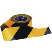 Zions Barricade Safety Tape 100Mt x 75mm Yellow/Black