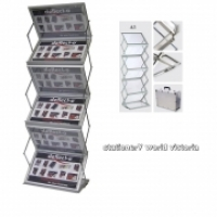 Deflecto Display Rack Alum Concertina A3 x 6 DR3003