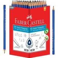 Faber Castell Junior Triangular Graphite 2B Pencil Box of 72