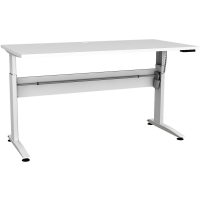 CONSET 501-15 ELECTRIC DESK White Frame White Top 1500x800mm