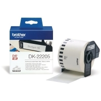 Brother DK22205 Label Roll White Paper 62mm x 30.48Mt