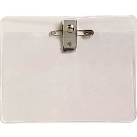 Rexel ID Card Holder/Pouch With Pin&Clip Large Pk10 9801612