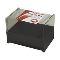 Card File Box Esselte SWS Plastic (6x4) 102x152mm Black
