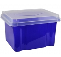 Italplast Storage Box 32 litre i307TBL Tinted Purple+ClearLid