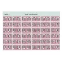Avery Coding Label Month PK180 43410 (OCT) 25x38mm Mauve