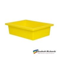 Elizabeth Richards Plastic Tote Tray Yellow