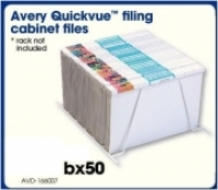 Avery Quickvue Filing Cabinet Files Foolscap 166007 BX50