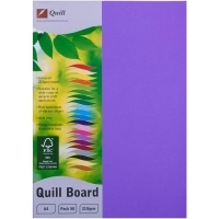 Quill Board A4 210gsm 90316 Pack 50 - Lilac