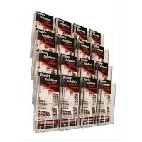 Deflecto Brochure Holder Lit-Loc Wall Display DL x16