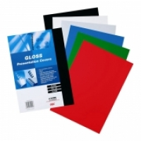 GBC BINDING COVERS A4 Gloss Card PK100 250gsm Black