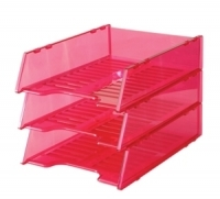 Document Tray Italplast Stackable i60 (Tinted) Pink