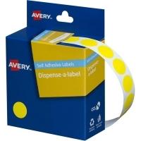 Avery Dispenser Label 14mm Yellow BX1050