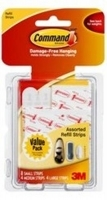 Command Adhesive 3M Refill Strips Assorted 17200CL