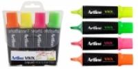 Artline Vivix Liquid Highlighters Wallet 4 Assorted