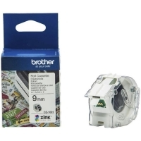 Brother CZ1001 Cassette White Label Roll 9mm wide x 5Mt long