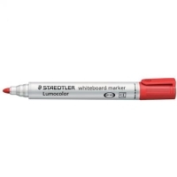Staedtler Whiteboard Marker 351-2 Bullet Point Red BX10