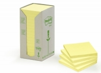 Post It Notes 654-RTY Recycled Tower Yellow PK16