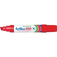 Artline 100 Marker Permanent Large Chisel Point Red