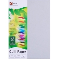 Quill Coloured Paper A4 80gsm Pack 500 - Grey