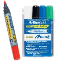Artline Whiteboard Marker 577 Wallet 4 Asstd