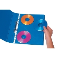 Marbig CD/DVD Pockets 25718 A4 3/sheet Pkt10sheets