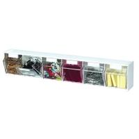 Deflecto Tilt Bin Storage System-6 Bin Unit White 20603