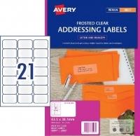 Avery Inkjet Label J8560 Clear PK25 21/sheet