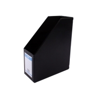 Bantex Magazine File Holder 4013-10 PVC 115mm Black