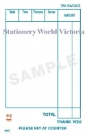 Zions Cafe Docket Book SWD 125x75mm Single Copy PK25