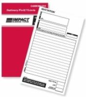 Quotation Book Duplicate 8x5 Carbonless Impact SB321
