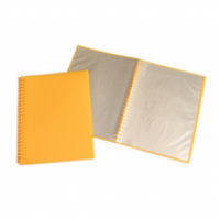 Tudor A4 Refillable Display Book 20pocket 141354 Yellow