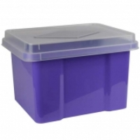 Italplast Storage Box i307FP Purple+ClearLid