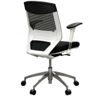 Vogue Mesh Mid Back Office Chair W04MAW White Frame/Black