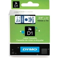 Dymo Labelling Tape D1 19mm x 7M 45804 Blue on White