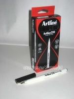 Artline Fineliner Marking Pens No 210 (0.6mm) BX12 Black