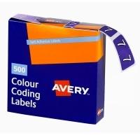 Avery Coding Label Numeric BX500 43247 (7) 25x38mm Purple
