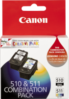 Canon Ink Cartridge PG510CL511CP Twin Pack PG-510 Black CL-511 C