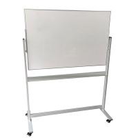 Penrite Porcelain Slimline Magnetic Mobile Whiteboard 1500x1200m
